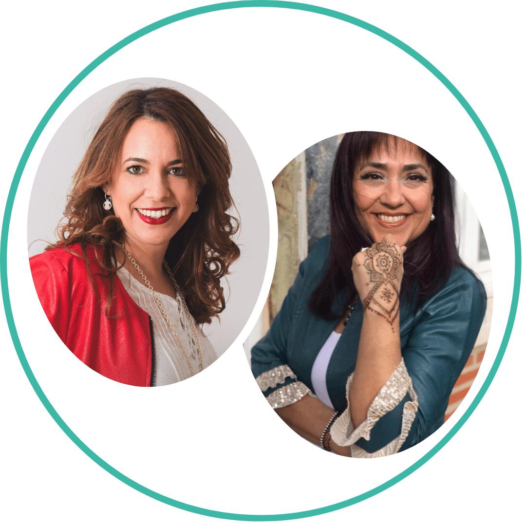 Elizabeth Esquitín y Marian Pérez